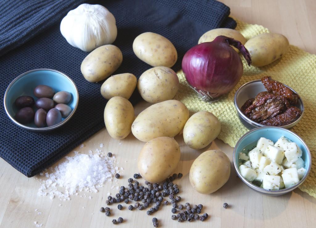 Hraefni i kartoflusalat